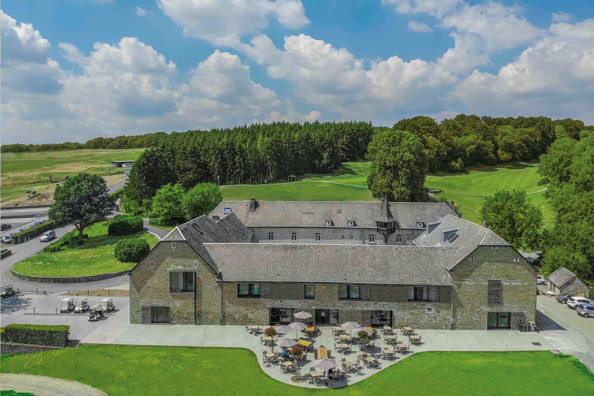 Belgie Five Nations Golfhotel bird view hotel